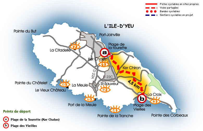 Cycling routes on the ile d 39 yeu - Office notarial ile d yeu ...