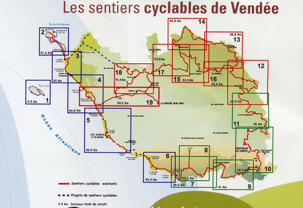 Cycling routes. click on route to see enlarged map