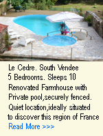 Le Cedre farmhouse gite with five bedrooms and private pool in the south Vendee