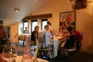 Diners at Le St.Georges Restaurant