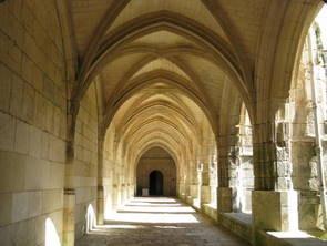 Lucon, Cloisters of Lucon Cathedral.