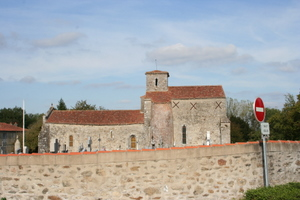the 11th century church  of Mesnard la Barotiere