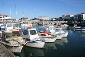 Port Joinville harbour on the Ile d'Yeu