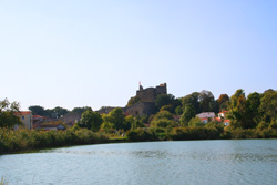 Talmont Chateau from the Lake