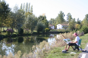 Artist at work in the Vendee.