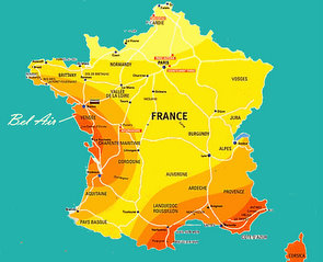 Map Of France Vendee Region.Vendee Weather Weather Forecast For The Vendee